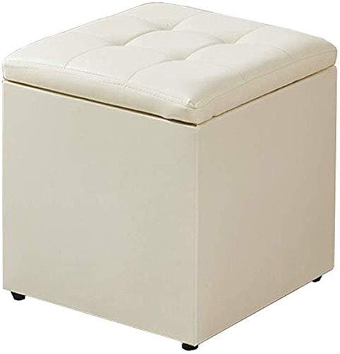 YLXBH Beigefarbener Aufbewahrungshocker, platzsparender Sitz im Wohnzimmer, Schlafzimmer mit Einzelbett, praktischer gepolsterter FußhockerYLXBH