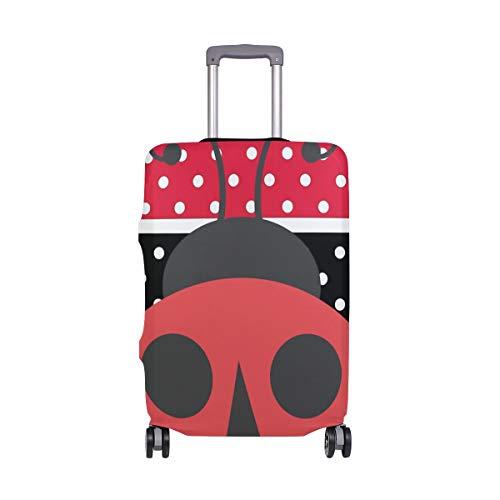 Montoj - Funda para Maleta, diseño de Mariquitas, Color Rojo y Negro