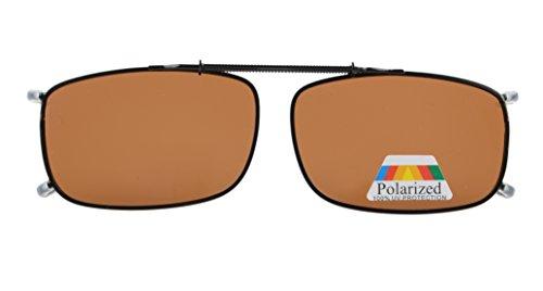 Eyekepper Metallrahmen Rim polarisierte Linse Klipp auf Sonnenbrille braun Linsen