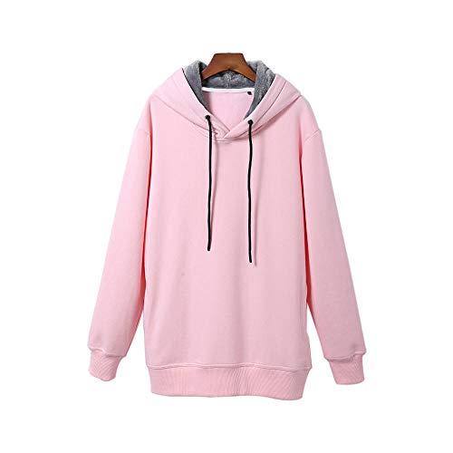 RYDRQF sweatshirt met capuchon voor dames, heren, truien, oversized, winterjas, fleece, eenkleurig, geschikt voor reizen