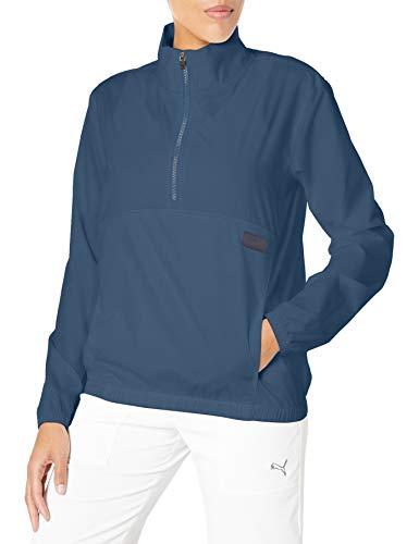 PUMA Golf 2020 Damen Windbreaker 1/2 Zip, Damen, Halbreißverschluss, 2020 Half Zip Windbreaker, Dunkles Jeansblau, Small