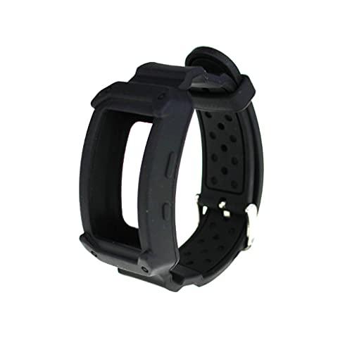 unknows - Cinturino per orologio in silicone con cornice di protezione per Samsung Gear Fit2 / Fit2 Pro