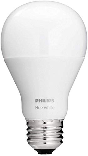 Philips Hue White A19 Single LED Smart Bulb Works with Amazon Alexa (Hue Hub Required, Works with Alexa, Homekit & Google Assistant), Old Version