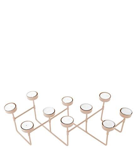 Present Time Harmonica -Tea Light Holder Photophore en métal Marron mat 49 x 16 x 12,5 cm