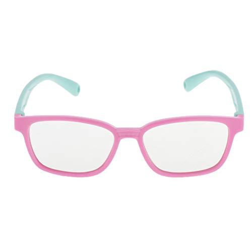 Kinder Anti Blaulicht Brille UV Schutz Gamer Computer Brille mit Blaulichtfilter für PC Smartphone Tablets TV - Rosa + Hellgrün