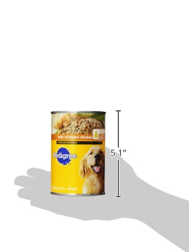 Pedigree Chopped Ground Dinner With Chicken Adult Canned Wet Dog Food, (12) 22 Oz. Cans