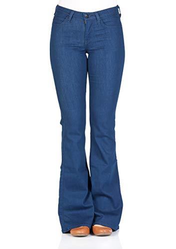 Lee Damen Jeans Chaffee - Skinny Flare - Blau - Worn Pacific, Größe:W 24 L 31, Farbe:Rinse (AVNE)