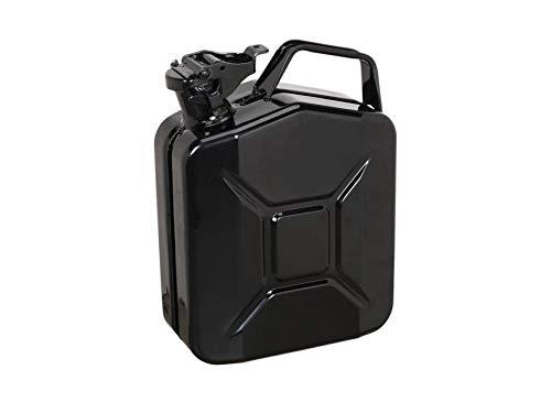 5 Litro Metal Bidón - Negro - para Combustible Gasolina Diesel Etc