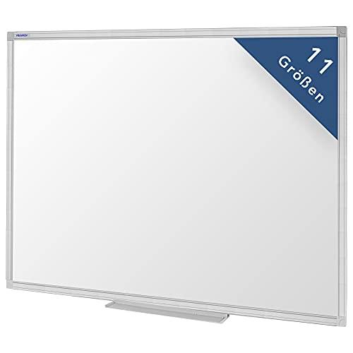 Franken magnetisches Whiteboard 90 x 60 cm, Magnettafel mit lackierter Oberfläche, Schreibtafel inkl. Marker und Ablageschale, SC3104