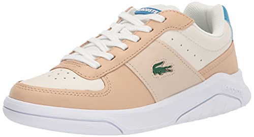 Lacoste Women's Game Advance Luxe Sneakers, White/NAT, 6