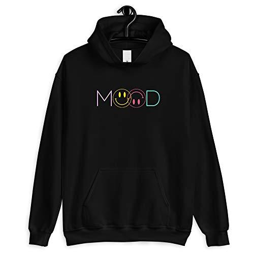 Kouvr Annon Merch Mood Smiley Face T-Shirt - Youth Shirt - Kid Shirt - Men Shirt - Woman Shirt - T Shirt Gift - Happy Birthday Gift - Long Sleeve - Hoodie - Crewneck Sweatshirt Black