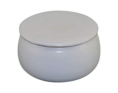 Original Französische Wassergekühlte Keramik Butterdose, Immer Frisch Und Streichfähige Butter, ca 125 gr Butter, Weiß Matt B-K