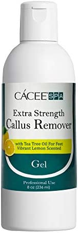 Cacee Callus Remover for Feet 8oz Gel Formula with Tea Tree Oil Lemon Scent Works Great with product image