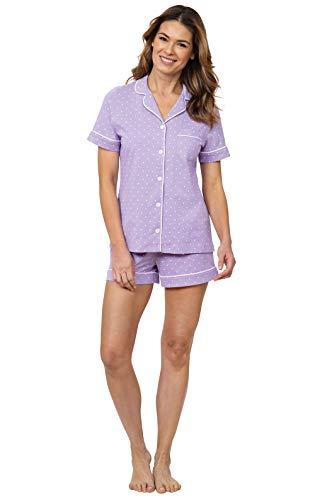 PajamaGram Womens Pajama Sets Cute - Soft Pajamas for Women, Lavender, 1X, 18-20