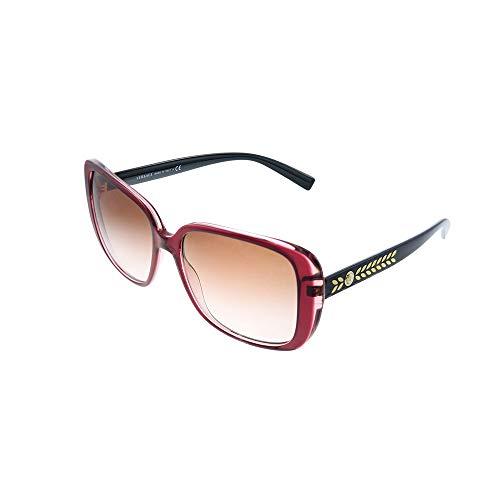 Versace 0VE4357 Gafas de sol, Transparente Red, 56 para Mujer