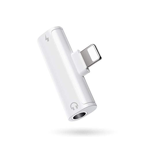 Pilloit For iPhone 3.5mm Headphone Adapter Splitter Jack Chargers Accessories Aux Cable for iPhone 11 pro/8/8 Plus/7/7Plus/X/XR Audio & Charger Dongle Adaptor Earphone Connector Support All iOS System