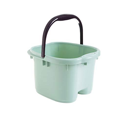 KTYX Bañera De Pies, Masaje De Pies, Rodillo, Baño De Pies, Lavamanos De Plástico, Hogar, Baño De Pies Grandes, Baño (Color : Green, Size : 24cm)