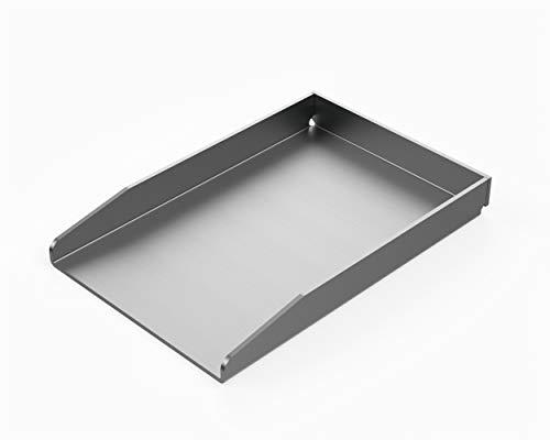 MaTaDa Edelstahl Grillplatte massiv I BBQ Plancha 20 x 30cm - Universalgröße passend für viele...