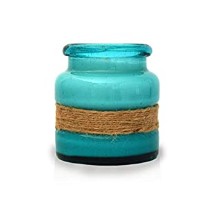 BB Candles Mermaid Island Hand Poured Candle, Turquoise Bay Glass, Beach Linen Scent, Natural Soy Artisan Candle…