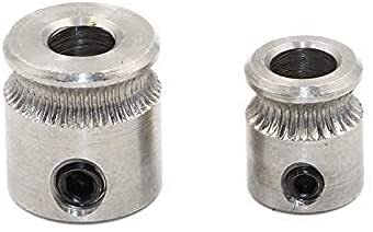 Good Stability Printer Accessories 5 PCS/LOT MK7 MK8 Extruder Drive Gear Bore 5mm for 1.75mm Hobbed Gear for M-akerbot R-eprap M-endel 3D Printer Parts (Size : MK8) (Size : MK7) Replace Damaged