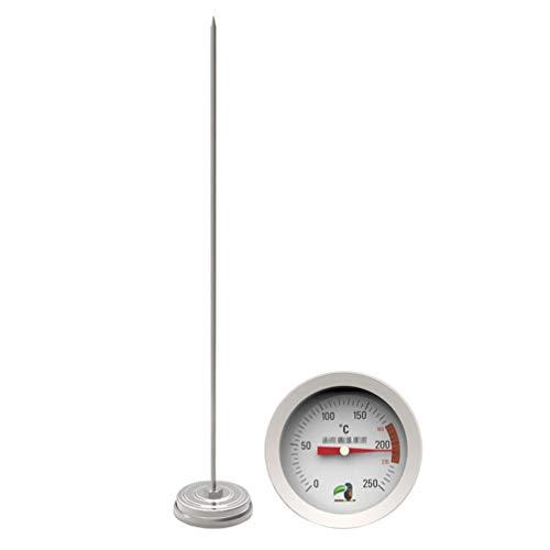 iplusmile Sicherheitsnahrungsmittelthermometer Ölthermometer Zuckertemperaturanzeige Haushaltszuckersirup-Temperaturdetektorwerkzeug für Die Küche zu Hause (Sonde 30 cm + Mehrlochclip)