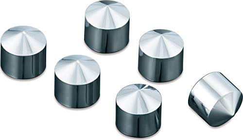 Kuryakyn 8693 Motorcycle Accent Accessory: Peaked Rocker Box Bolt Cover Caps for 1999-2019 Harley-Davidson Motorcycles, Chrome, Pack of 6