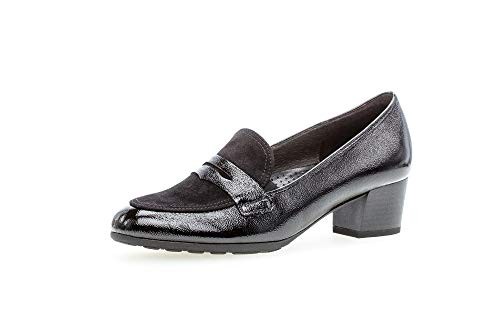 Gabor Damen Slipper, Frauen Mokassins,Comfort-Mehrweite, Business-Schuh anzugschuh büro weiblich Lady Ladies feminin,schwarz,41 EU / 7.5 UK