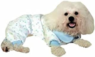 Vo-Toys Doggie Duds Paw Print PJs Pastel with Blue Trim Xsmall