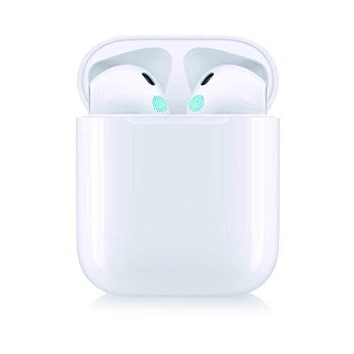 Auriculares Inalámbricos, Auriculares Bluetooth 5.0 con Micrófono, Caja de Carga Portátil con...