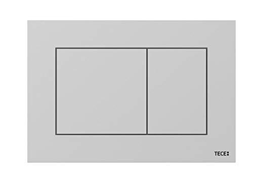 TECE Now Betätigungsplatte für WC (Chrom matt, Zweimengentechnik, bedienbar von Oben und vorne) 9240402, grau