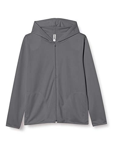[グリマー] 長袖 4.4オンス ドライ UV ジップ パーカー 00338-AMZ メンズ ダークグレー M (日本サイズM相当)
