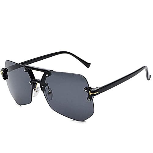 AMFG Gafas de sol Gafas de sol de Gafas de Sunglass Hombres Transmisión de mujeres (Color : E)