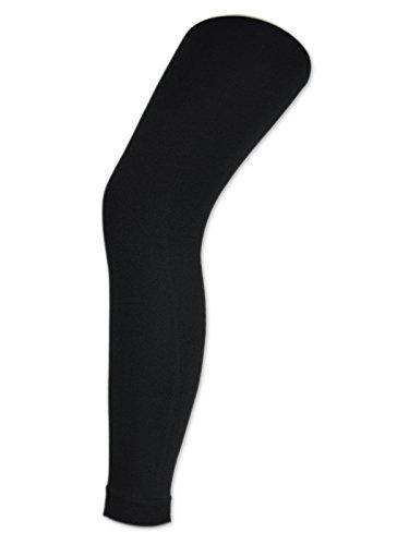 sockenkauf24 Damen THERMO Leggings mit Innenfleece extra warm Innenfutter Fleece Leggins - 89556 (48/50, Schwarz)