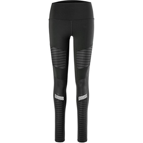 Alo Yoga Women's High Waisted Moto Legging, Black/Black Glossy, Extra Small