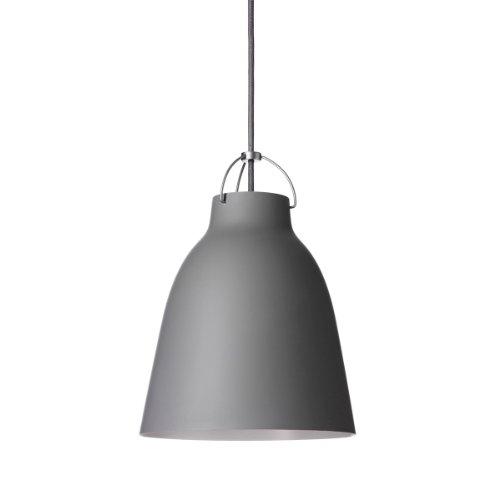Lightyears Shapes - Pendelleuchte - Caravaggio P1, dunkelgrau mit grauem Kabel Ø165mm - E27
