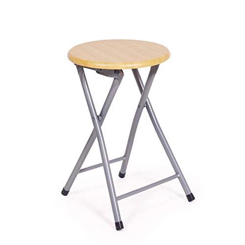 TANGONG Chaise Pliante Chaise en Bois Ronde Portable De Formation De Conférence Tuyau en Acier Petit Banc Chaise De Salle à Manger Simple Maison Chaise