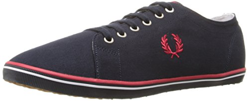 Fred Perry Kingston Twill, Scarpe Stringate Oxford Unisex-Adulto, Marina Militare, 39.5 EU