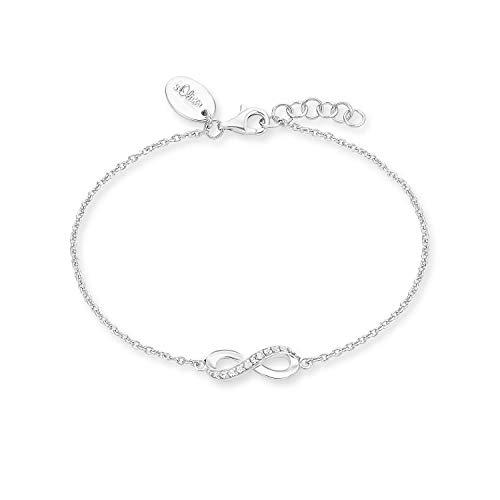 s.Oliver Armband für Damen Infinity, 925er Sterling Silber rhodiniert