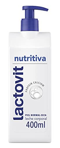 Lactovit Leche Corporal con Protein Calcium y Manteca de Karité, para Pieles Normales y Secas, Nutritiva, Delicado y Sofisticado, 400 Mililitros