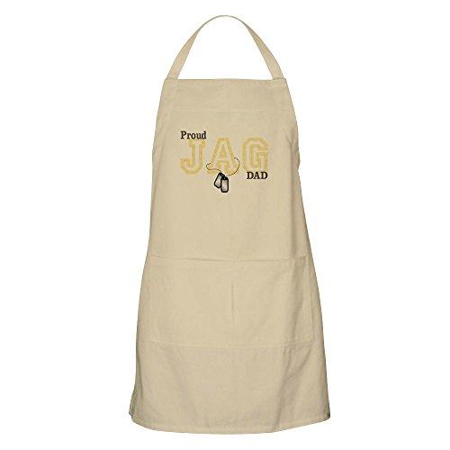 CafePress – Proud Jag Dad Grillschürze – Küchenschürze mit Taschen, Grillschürze, Backschürze Khaki
