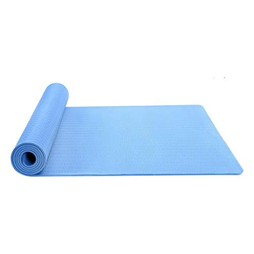 Juliyues Yogamatte rutschfest Pilatesmatte Gymnastikmatte extra dick hohe Dichte Yogamatte Anfängerkissen Yogamatte rutschfest weich Sportverlierung Yogamatte - Maße 183cm Länge 61cm Breite
