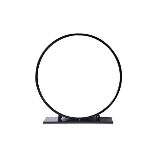 Kapperszaak mirror HD make-up spiegel, Zwart/wit/goud Grote Desktop Single-zijdig rond HD Countertop make-up spiegel for Slaapkamer Badkamer Thuis Douche Kapsalon kapperszaak spiegel