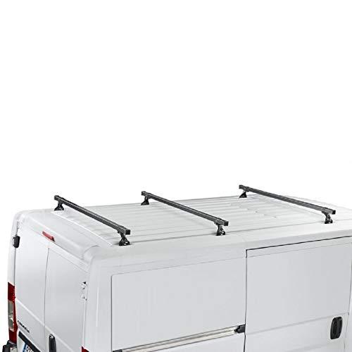Custom Transit L1H1(2013-to FECHA) Cruz Heavy Duty barras de techo de acero 35x 35en diámetro 3bar sistema
