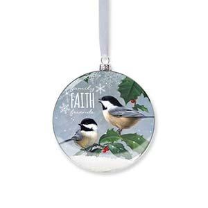 Enesco Reason to Rejoice Snowglobe-Chickdee Ornament 3.875 IN