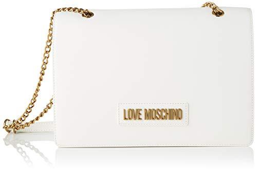 Love Moschino Jc4260pp0a, Borsa a Tracolla Donna, Bianco (White PU),...