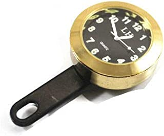 Universelle Motorrad Uhr für Honda, Yamaha, Kawasaki, Suzuki, Hyosung Husqvarna, indischer Chopper Bobber (Gold)