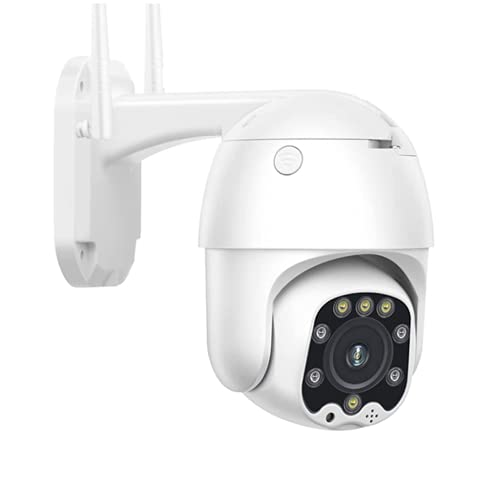 1080P HD Camera PTZ IP Camera - 3G 4G gsm SIM Card Camera Security Outdoor IP66 Waterproof CCTV P2P Infrared Night Vision Push Alert - Suitable for Android/iOS/PC (4G Camera+32G TF)