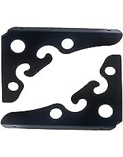 DunShan Plankbeugels, heavy-duty zwevende plank driehoek plank beugel 90 graden plank steun frame haakse wandmontagebeugel, multifunctionele beugel, zwart/wit, pak van 2