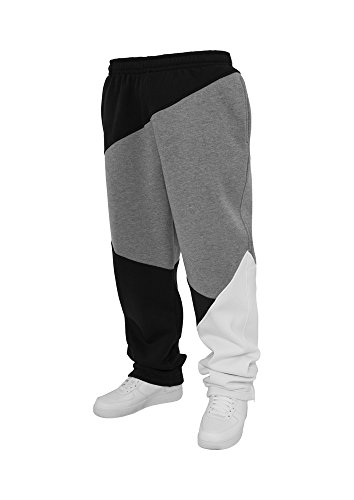 Urban Classics Zig Zag Sweatpants, Pantalon Homme, Multicolore (Blk/Gry/Wh 33), W28 (Taille fabricant: XS)
