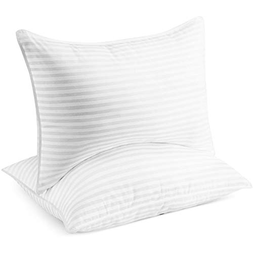 Beckham Hotel Collection Gel Pillow (2-Pack) - Luxury Plush Gel Pillow - Dust Mite Resistant & Hypoallergenic - King